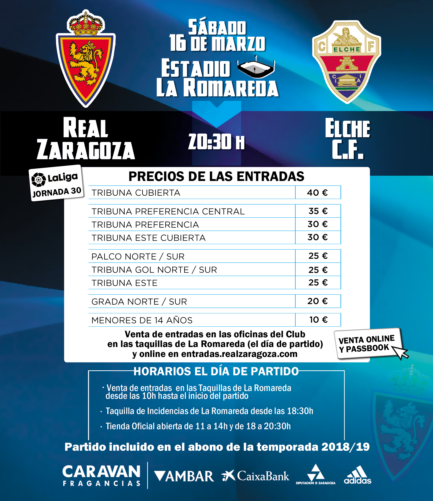 REAL ZARAGOZA VS ELCHE CF